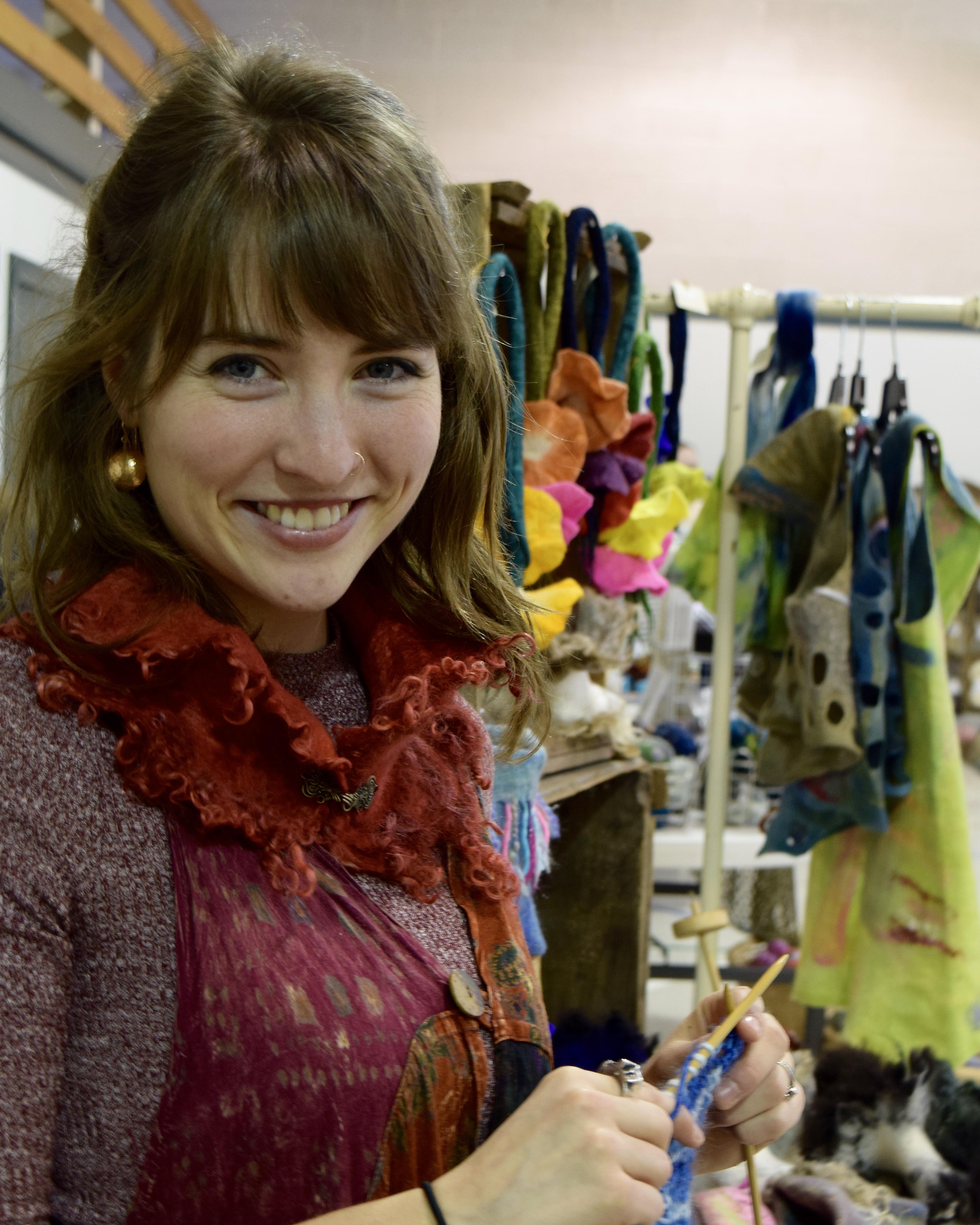 Anna Mathis Ploome fiber art