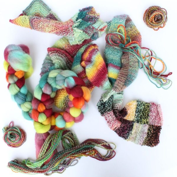 12 façons de filer une laine teinte à la main / 12+ Ways to spin A Hand Painted Top for Colour