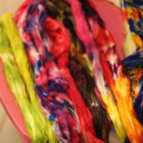 Teinture de la laine « peinte à la main » / Hand-dyed yarn, the hand painted method